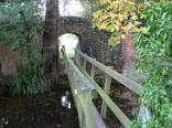 Small wooden footbridge on The Oxfordshire Way outside Henley.