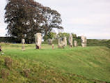 Part of the many standing stones at Avebury in Wiltshire.