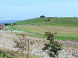 Barbury Castle seen from The Ridgeway Path in England.