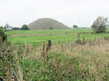 Silbury Hill near Avebury, Wiltshire in England.