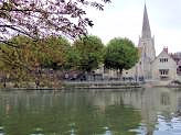 Abingdon Town with St. Helens Church across the Thames.