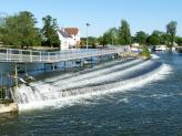 Part of the huge weir at Hambleden in England.