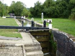 The serene area at Pigeons Lock in Oxfordshire.