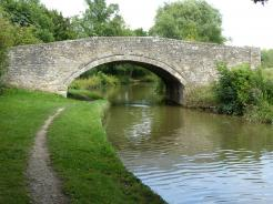 Pinsey Bridge crosses The Oxford Canal in England.
