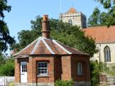 The old Toll-House where the River Thame is crossed at Dorchester Village in Oxfordshire.